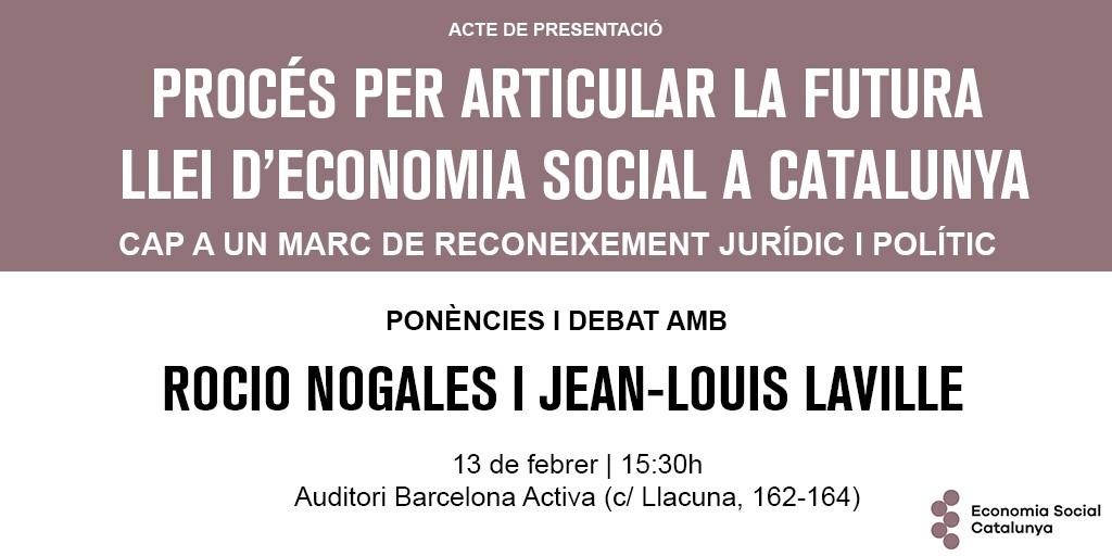 Presentació del procés per articular la futura Llei d'Economia Social a Catalunya